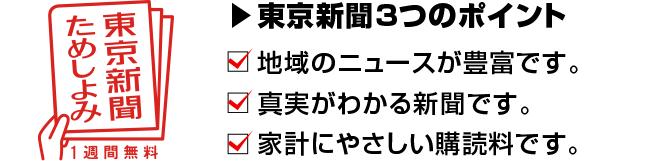 東京新聞の3つのポイント